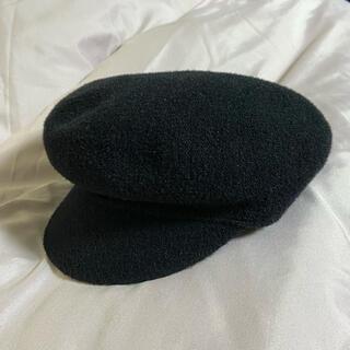 アズールバイマウジー(AZUL by moussy)のAZUL  ニット ブラック キャスケット 帽子 (キャスケット)