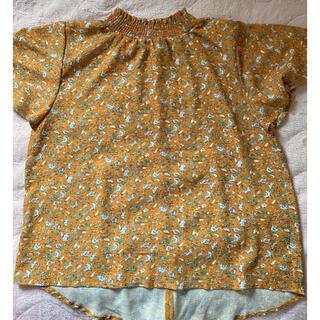 オリーブデオリーブ(OLIVEdesOLIVE)のOLIVE des OLIVE ブラウス 花柄 マスタード(シャツ/ブラウス(半袖/袖なし))