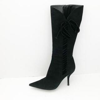 セルジオロッシ(Sergio Rossi)のセルジオロッシ ロングブーツ 37美品  - 黒(ブーツ)