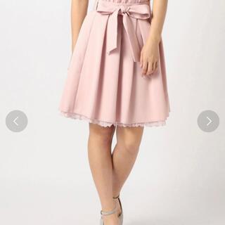 ロディスポット(LODISPOTTO)のLODISPOTTO リボン付き女の子タックスカート ピンク pink(ミニスカート)