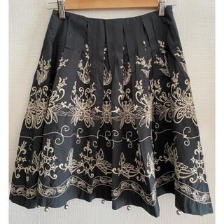 ロイスクレヨン(Lois CRAYON)のロイスクレヨン 刺繍 膝丈スカート(ひざ丈スカート)