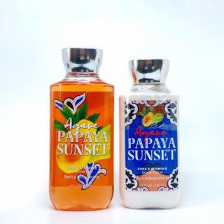 バスアンドボディーワークス(Bath & Body Works)のBBW Agave Papaya Sunset 2点セット  (ボディローション/ミルク)