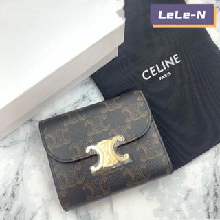 セリーヌ(celine)のCELINE<新品レシート付き> トリオンフ キャンバススモール財布(財布)
