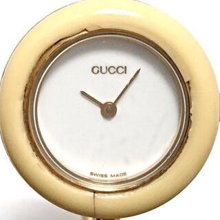 グッチ(Gucci)のグッチ 腕時計 ベゼルウォッチ 11/12.2 白(腕時計)