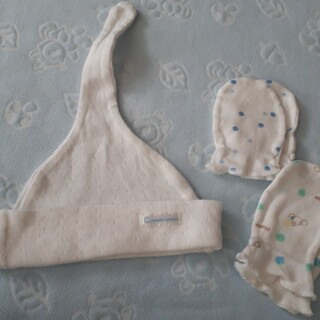 コンビミニ(Combi mini)のコンビミニ 新生児キャップ(帽子)