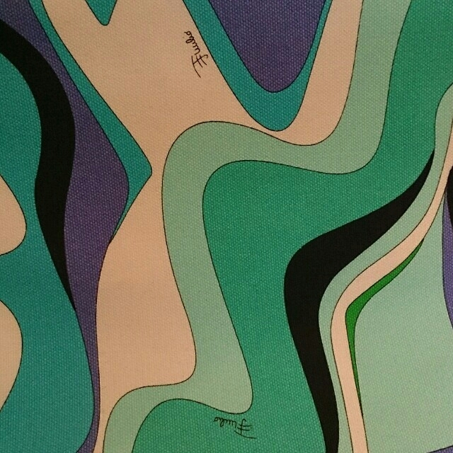 EMILIO PUCCI(エミリオプッチ)のPUCCI ブルー バック レディースのバッグ(トートバッグ)の商品写真