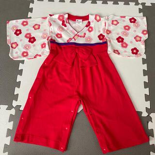 カバーオール 袴 女の子 90センチ(和服/着物)