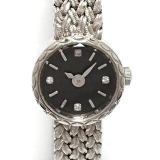 アガット(agete)のアガット 腕時計 - 0.02 レディース 黒(腕時計)