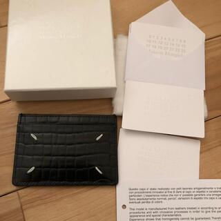 マルタンマルジェラ(Maison Martin Margiela)のMAISON MARGIELA ブラック クロコ レザー カード ケース 定期入(名刺入れ/定期入れ)