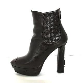 ボッテガヴェネタ(Bottega Veneta)のボッテガヴェネタ ショートブーツ 36 - 黒(ブーツ)