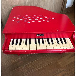 カワイピアノ ミニピアノ 子供ピアノ 赤いピアノ木製(楽器のおもちゃ)