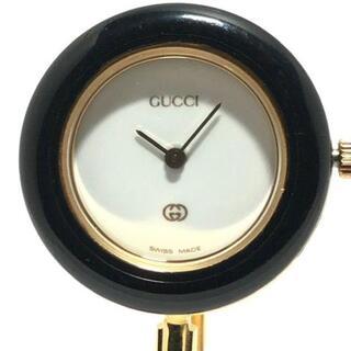グッチ(Gucci)のグッチ 腕時計 ベゼルウォッチ 11/12 白(腕時計)