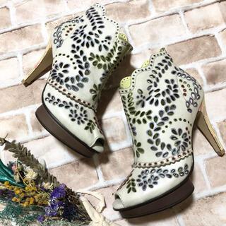 エディットフォールル(EDIT.FOR LULU)のMANA カットワーク デザイン サンダル ブーツ(ブーツ)