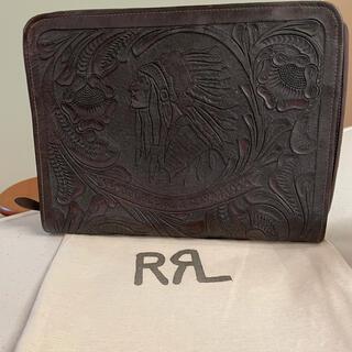 ダブルアールエル(RRL)のRRL ダブルアールエル カービング レザー クラッチバッグ(その他)