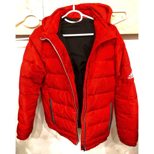 adidas(アディダス)のアディダスダウンジャケット赤 Mサイズ メンズのジャケット/アウター(ダウンジャケット)の商品写真