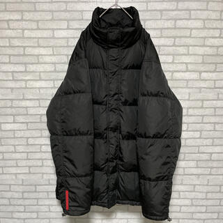 PRADA - 【高級】PRADA  プラダ  ダウンコート  ブラック  袖ラバーロゴ  50