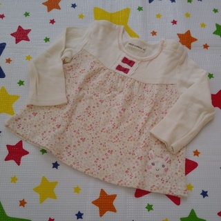 coeur a coeur - クーラクール 小花柄長袖Tシャツ 80cm キムラタン