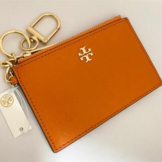 Tory Burch - 63977 トリーバーチ キーリングつきカードケース オレンジ