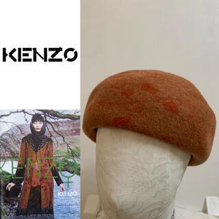 ケンゾー(KENZO)のKENZO PARIS VINTAGE 90s 日本製 柄 ウールベレー帽 男女(ハンチング/ベレー帽)