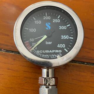 スキューバプロ(SCUBAPRO)の・WASSER様専用 SCUBAPRO 純正メタルプレッシャーゲージ  63mm(マリン/スイミング)