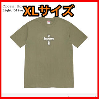 シュプリーム(Supreme)のsupreme cross box logo tee olive XL(Tシャツ/カットソー(半袖/袖なし))