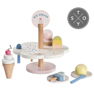 ボンポワン(Bonpoint)の♦︎ STOY ストイ ♦︎ アイスクリームごっこ おままごと(知育玩具)