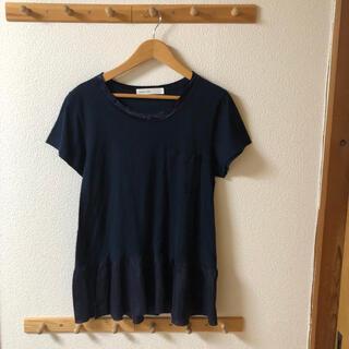 サカイラック(sacai luck)のsacai luck Tシャツ カットソー ネイビー 無地(Tシャツ(半袖/袖なし))