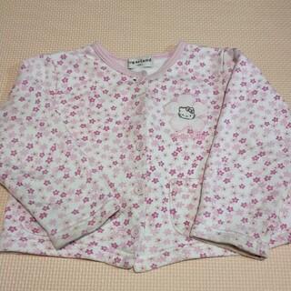 ハローキティ(ハローキティ)のハローキティ上着 100サイズ 女の子 花柄 ピンク 長袖カーディガン サンリオ(ジャケット/上着)
