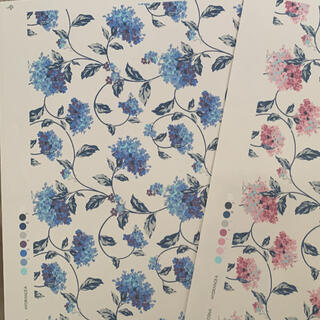 転写紙 紫陽花 ブルー(型紙/パターン)