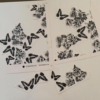 転写紙 ポーセラーツ 薔薇 蝶(各種パーツ)