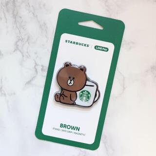 スターバックスコーヒー(Starbucks Coffee)の【新品】台湾スターバックス LINE コラボ スマホスタンド ブラウン 熊(その他)