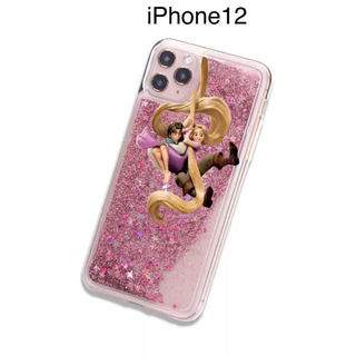 ラプンツェル(ラプンツェル)の新品iPhone12Disneyディズニーラプンツェルグリッタプリンセス(iPhoneケース)