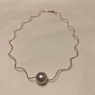 パール(pearl)のお雛様特価💖美品 南洋真珠14mm  k18  形状記憶チョーカー(ネックレス)