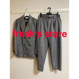 フリークスストア(FREAK'S STORE)のfreak's store セットアップ  グレー チェック柄 L(セットアップ)