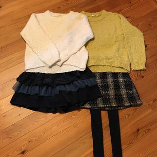 GU - ニット スカート  パンツ タイツ セット 150