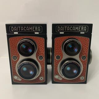 カルディ(KALDI)のカルディ レフレックスカメラ缶 2個 チョコレート バレンタイン KALDI(菓子/デザート)