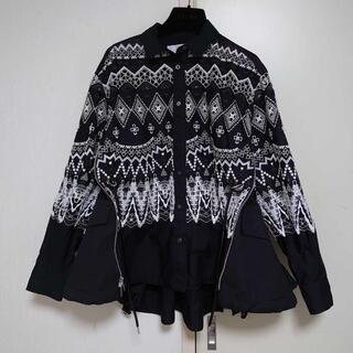 サカイ(sacai)のsacai 2019aw フェアアイル 刺繍 Aライン ブラウス (シャツ/ブラウス(長袖/七分))
