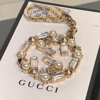 Gucci - グッチ GG ビジュー クリスタルパール キーホルダー