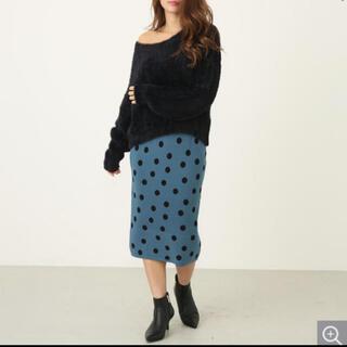リエンダ(rienda)のrienda ドットタイトスカート(ひざ丈スカート)