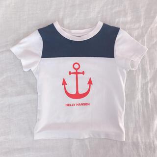 ヘリーハンセン(HELLY HANSEN)のヘリーハンセン イカリプリントtee 100(Tシャツ/カットソー)