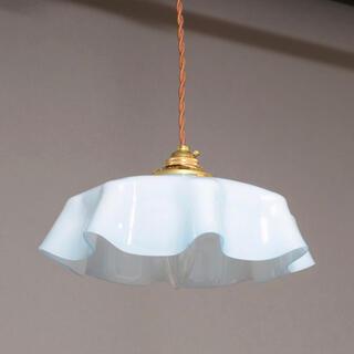 フランス ガラス 天井照明 アンティークランプ(天井照明)