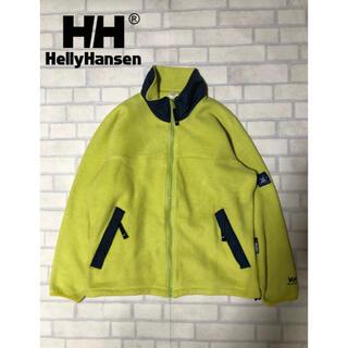 ヘリーハンセン(HELLY HANSEN)のHELLY HANSEN ビンテージ フリース ライムグリーン Lサイズ(ブルゾン)