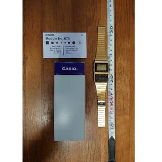カシオ(CASIO)の【レア 廃盤 付属品アリ】 カシオ データバンク DBC-610 ゴールド(腕時計(デジタル))