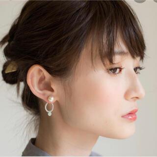 アネモネ(Ane Mone)の新品未使用 Anemone アネモネ 天然石 14k ピアス 片耳 グリーン(ピアス)