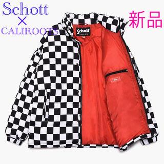 ショット(schott)の【新品】100着限定! Schott  × caliroots ダウンジャケット(ダウンジャケット)