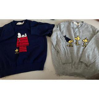 ユニクロ(UNIQLO)のスヌーピー ニットトレーナー(Tシャツ/カットソー)