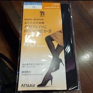 アツギ(Atsugi)のアツギ 日本製 タイツ L-LL ブラック(タイツ/ストッキング)