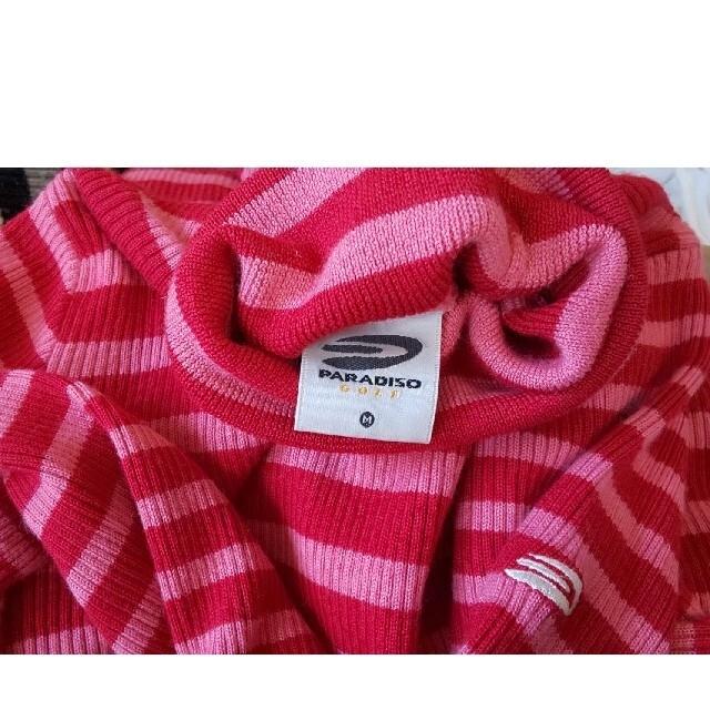 Paradiso(パラディーゾ)のパラディーゾ レディースゴルフウェア トップス 美品 ニット セーター ボーダー スポーツ/アウトドアのゴルフ(ウエア)の商品写真