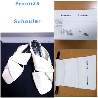 プロエンザスクーラー(Proenza Schouler)の大幅お値下げ Proenza Schouler キトゥンヒール レザー サンダル(サンダル)