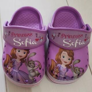 ディズニー(Disney)のベビー サンダル 13センチ ソフィア ディズニー クロックス 紫 女の子(サンダル)